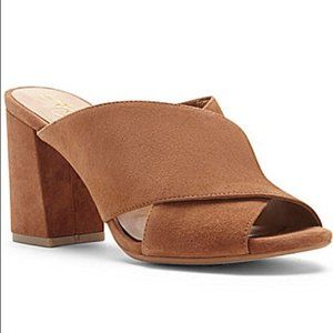 Arturo Chiang Jessica suede mule sandals  7M
